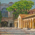 2008, Gate and Colonnade University of  WA, Available  - $2,650  Acrylic on Canvas 900x600 mm