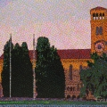 2009, Sunrise Winthrop Hall, Available - $3,500, Acrylic on Canvas 1120x670 mm