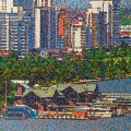 2010, Perth Foreshore, Available -$4,000, Acrylic on Canvas  1320x600 mm