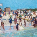 2012, Cottesloe, Private Collection,  Acrylic on Canvas 900x1600 mm