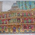 2015, Old Palace Hotel (Facade), Private Collection, Mixed Media on Paper,  330 x 425 mm