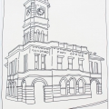 2015, Guildford Post Office, Available -$200,  Pen on Paper   520 x 395 mm