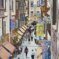 2014, London Court,  Private Collection, Acrylic on Canvas  1500 x 1000 mm