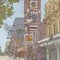 2012, Perth Town Hall, Available -$2,500,  Acrylic on Canvas 960x600 mm