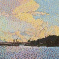 2012, The Narrows, Available -$2,100, Acrylic on Canvas 340x1200 mm