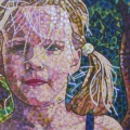 2003, Alana, Private Collection,                 Acrylic on canvas, 350mm x 280mm