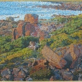 2002, Gracetown Heathland, Private Collection,                Acrylic on canvas, 805mm x 1130mm