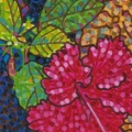 2003, Hibiscus, Private Collection,       Acrylic on canvas, 210mm x 300mm