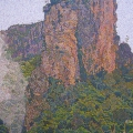 2002, Nimbin Rock, Private Collection,         Acrylic on Canvas, 850mm x 1200mm