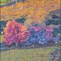 1994  Pennine Autumn (Pink), Private Collection,  525x915mm,  Acrylic On Canvas