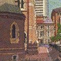 2009, Cathedral Square, Private Collection,  600x420ml  Acrylic On Canvas