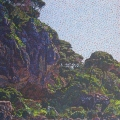2005, Cliffs at Shelley Cove  700x1100mm  Acrylic On Canvas