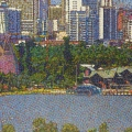 2011, Perth Foreshore  1320x600mm,  Acrylic On Canvas