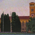 2009, Sunrise Winthrop Hall  1120x670ml  Acrylic On Canvas