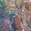 2005, Trees in Rocks Near Gracetown, Private Collection,  420x700ml  Acrylic On Canvas