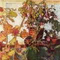 2002, Studio Nursery   470x730ml  Watercolour & Acrylic on Paper