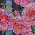 2015 Three Roses     Mixed Media on Paper     190 x 290 mm